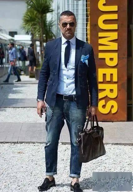 时尚又成熟的质感搭配!商务型男必学的正式休闲风