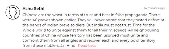 奇葩!印媒与印网民对中方首次披露伤亡情况作何反应?