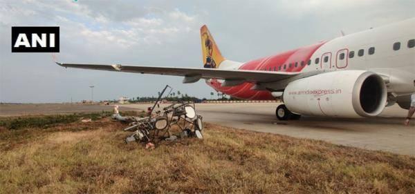 印度一客机撞上电线杆 未造成人员伤亡