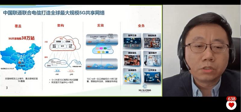 直击MWCS21 |中国联通冯毅:以5G片为切入点打造差异化服务能力
