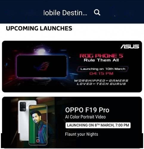 OPPO F19 Pro 系列将于 3 月 8 日在印度发布:搭载天