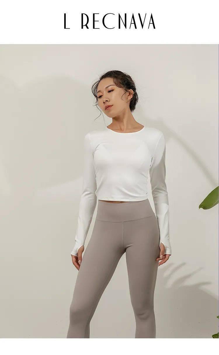 瑜伽精选 | 后背抽绳镂空瑜伽长袖,高级时尚_拇指
