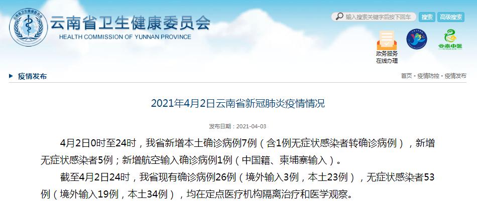 """4月2日瑞丽新增""""7+5"""",昆明新增1例航空输入确诊病例"""