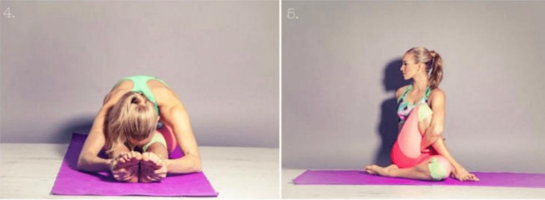 一套全方位拉伸腿部的瑜伽序列,美化腿型,让你轻松拥有一对大长腿!_双腿