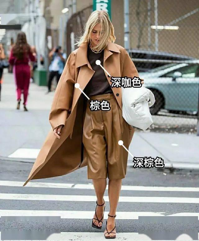 """人手一件的棕色风衣,这样配""""内搭""""才上档次,轻松摆脱路人感"""