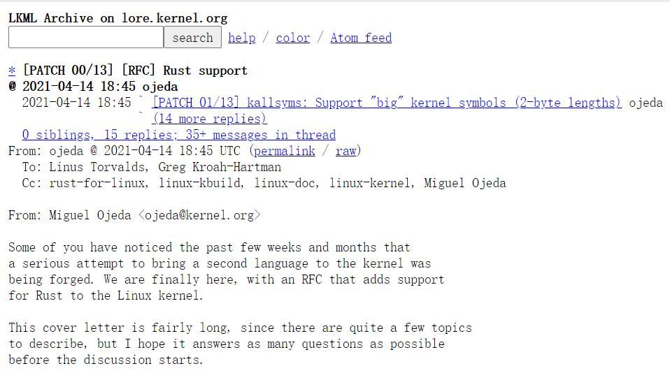 Linux内核开发者开始关于Rust的新一轮讨论