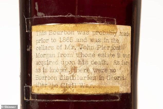 世界最老威士忌拍卖JP摩根遗产仅此一瓶估价4万美元