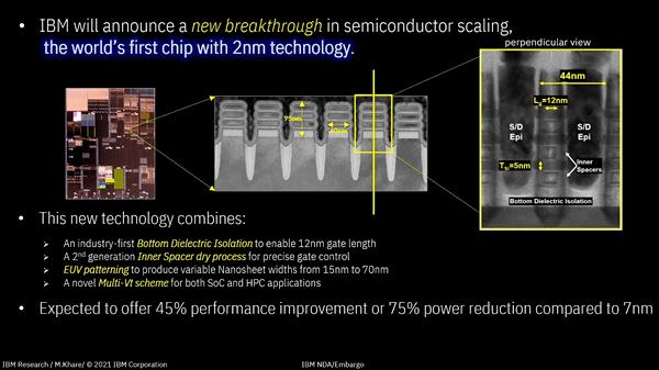IBM搞出了2nm的芯片,一片指甲盖大小就能塞500亿个晶体管