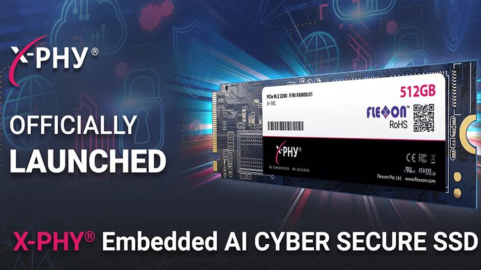 Flexxon 推出内置 AI 主动安全防护功能的 NVMe 固态硬盘