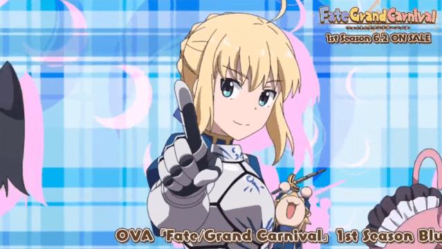 《Fate/Grand嘉年华》OP角色均来自于Fate系列 「月姬」角色不登场