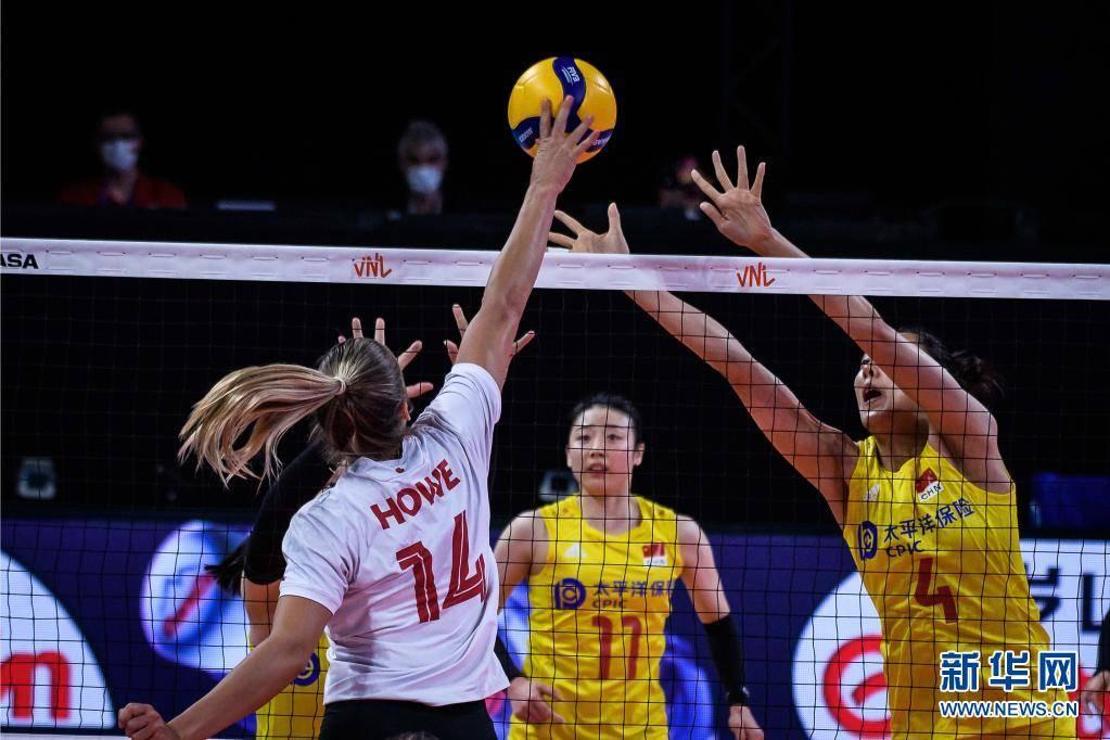 世界女排联赛:中国队不敌加拿大队插图(1)