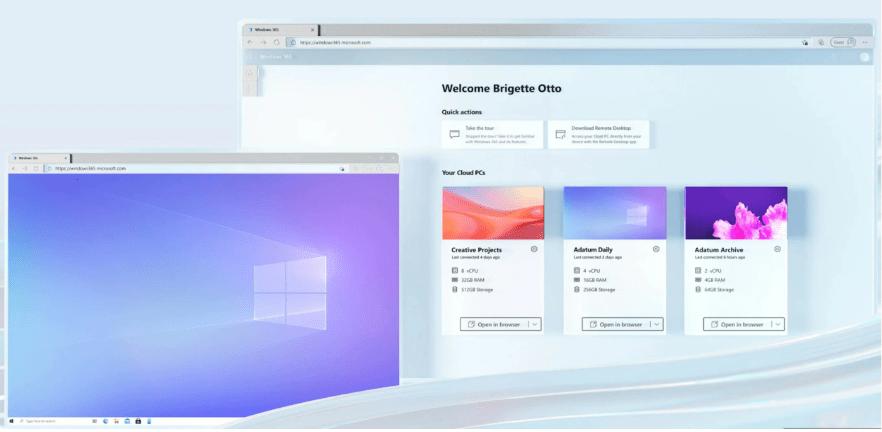 微軟Windows 365云電腦停止免費試用,將提供商業版及企業版兩種變體