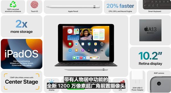 苹果发布New iPad平板:升级A13处理器、1200万摄像头 329美元起的照片 - 6