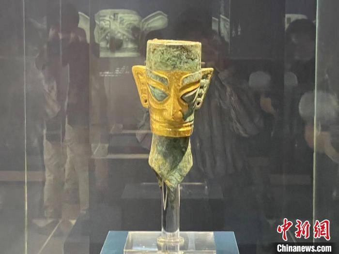 三星堆文物浙江展出 含黄金面具和青铜人头像