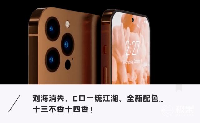 iPhone 14曝重磅猛料!接口刘海都被干掉,性能大升级...值得期待