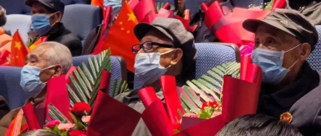 致敬英雄!金川区抗美援朝老兵观看电影《长津湖》