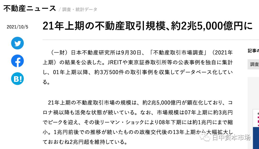 疫情下日本房地产交易持续活跃
