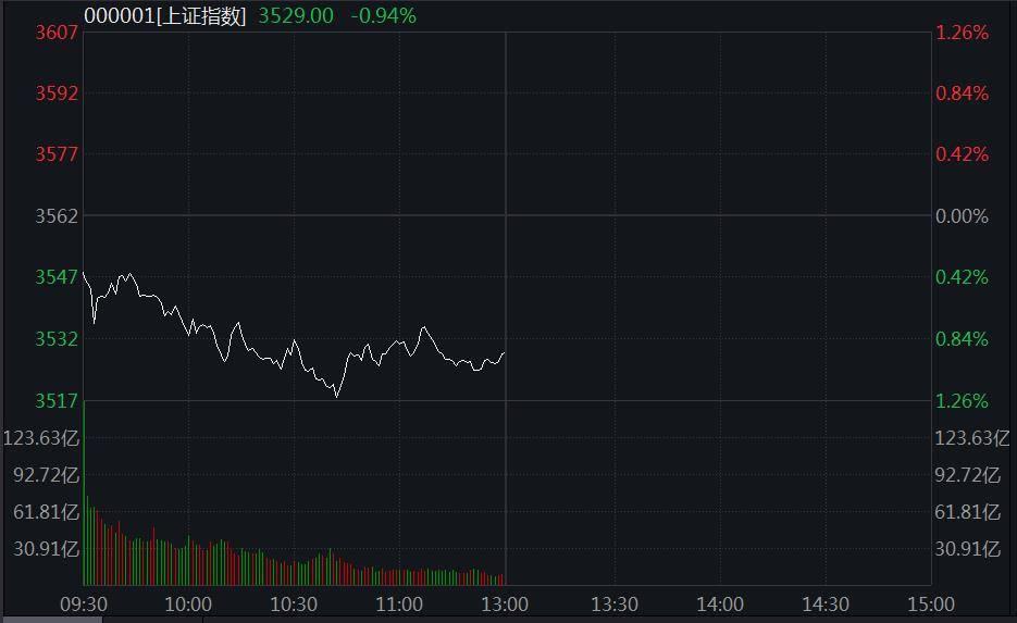 沪指低位盘整跌近1%:多只煤炭股跌停,白酒股逆市活跃